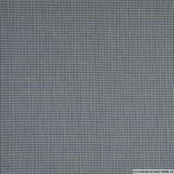 Coton tissé teint petits rectangles noir et bleu