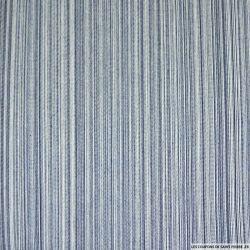 Jean's coton rayé marine et ciel