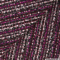 Tweed coton mélangé violet et rose