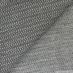 Jersey polyester chevron gris et noir