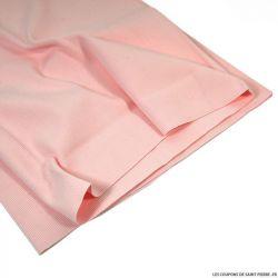 Bord côte rose bébé vendu au mètre