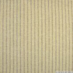 Lin coton rayé bonne nouvelle beige