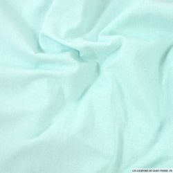 Chambray polycoton vert d'eau