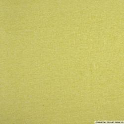 Molleton coton gratté vert anis