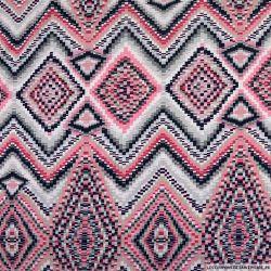 Maille maillot de bain imprimée pixel rose