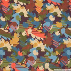 Coton liberty ® Autumn Fall marron au mètre