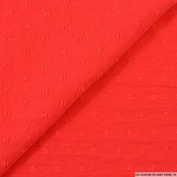 Crêpe polyester plumetis rouge