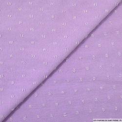Crêpe polyester plumetis noir