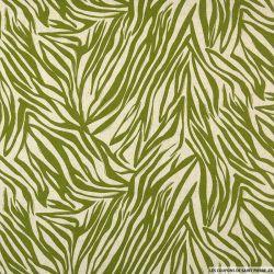 Lin viscose feuillage vert