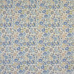 Coton liberty ® D'Anjo bleu au mètre