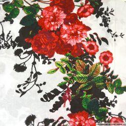 Viscose imprimée Laura rouge