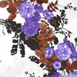 Viscose imprimée Laura violet
