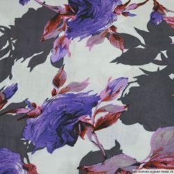 Viscose imprimée Ellie violette