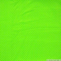 Viscose imprimée petit pois vert