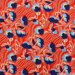 Microfibre polyester imprimée torsade marine