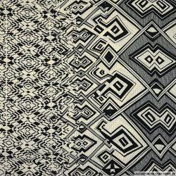 Gaze polyester imprimée confettis fond bordeaux