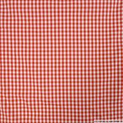 Vichy polycoton rouge