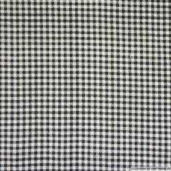 Polycoton à carreaux noir et blanc