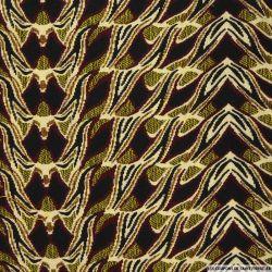 Jaquard polycoton merveilleux bordeaux et jaune