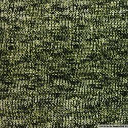 Crêpe lourd imprimé espèce rare vert