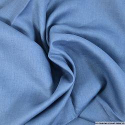 100% Lin bleu barbeau