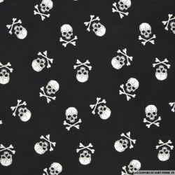 Coton imprimé drapeau pirate Grand fond noir