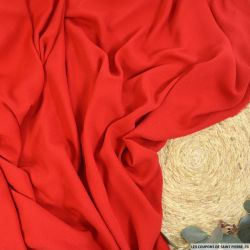 Crêpe rouge 100% soie
