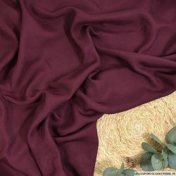 Toile de soie shantung légère rouge bordeaux