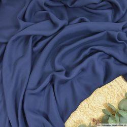 Toile de soie shantung légère bleu barbeau
