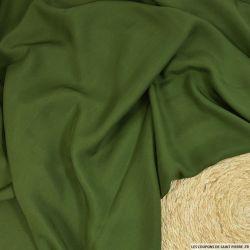 Toile de soie shantung légère vert militaire