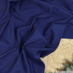 Toile 100% soie bleu