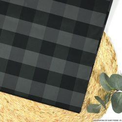 Taffetas vichy grand gris et noir