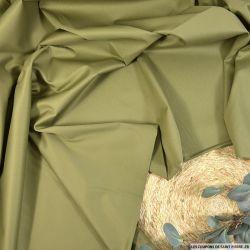 Gabardine coton élasthanne kaki clair