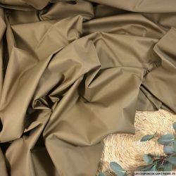 Gabardine coton élasthanne marron