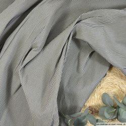 Coton soie rayures bicolore