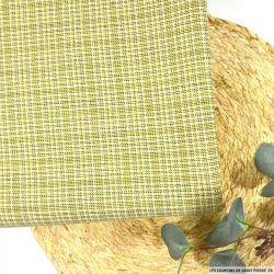 Toile de laine fantaisie fond jaune et noir