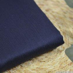 Jacquard coton et soie sur base dégradé marine à noir