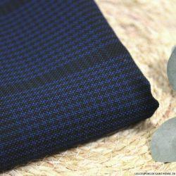 Tartan polyester marine et noir