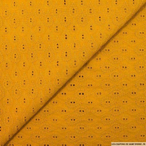 Broderie anglaise goutte de pluie ambre