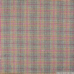 Clan écossais rose, noir et lurex