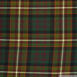 Clan écossais vert ligne rouge et blanche