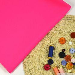 Gabardine de laine rose néon