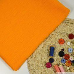 Crépon plissé coton et soie curcuma