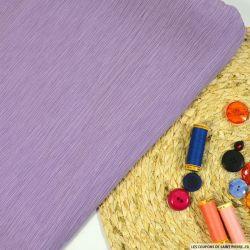 Crépon plissé coton et soie lilas