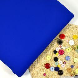 Néoprène bleu roi contrecollé laine grise