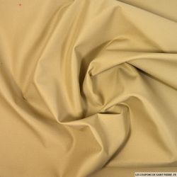 Tissu imperméable lourd polycoton beige foncé