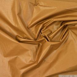 Tissu imperméable ciré polycoton marron