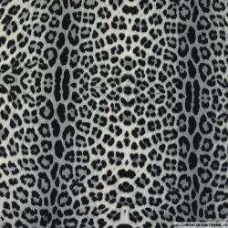 Jersey imprimé léopard noir et blanc