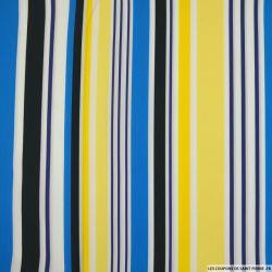 Coton chemise rayé bleu et jaune