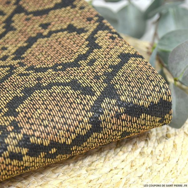 Jacquard de soie mélangée python